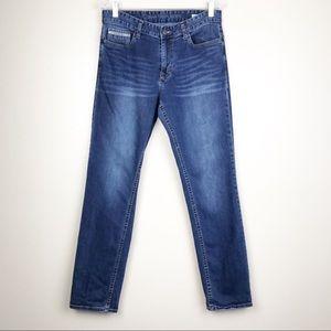 Calvin Klein Slim Straight Mid-Rise Blue Jeans